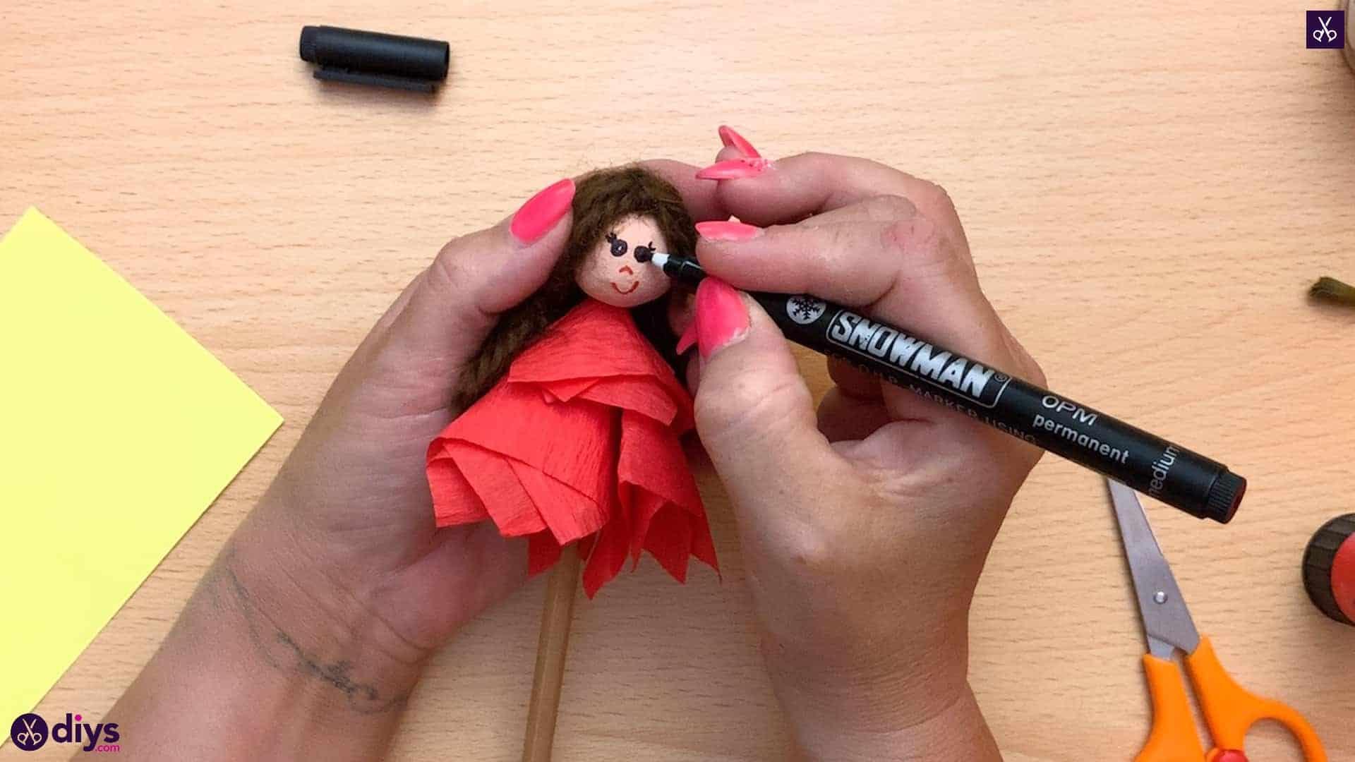 Diy pencil puppet stencil