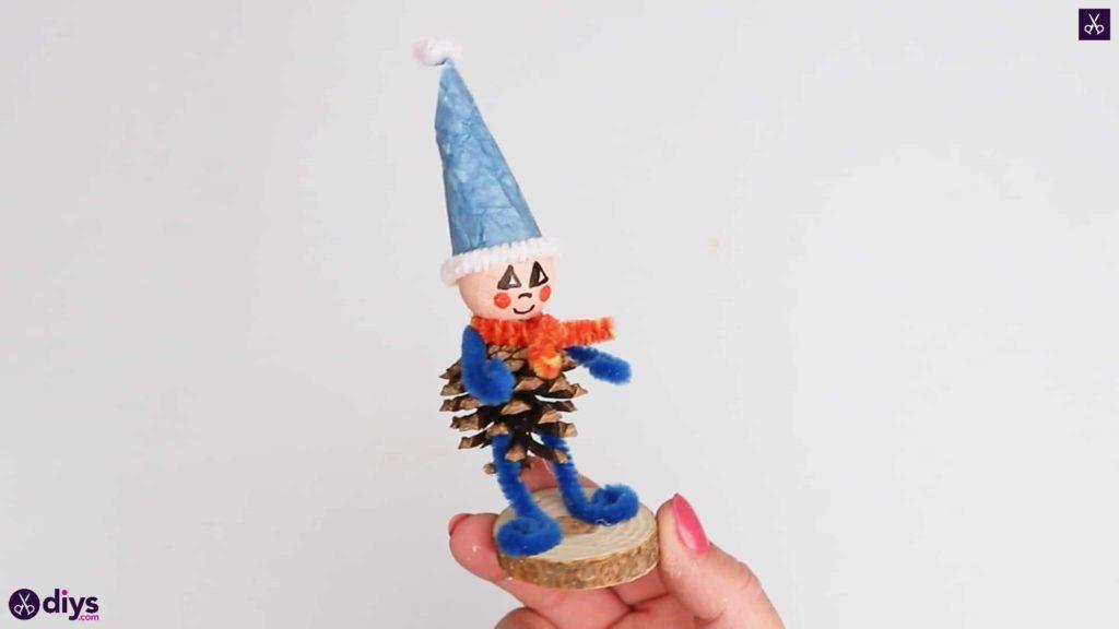 Diy pinecone gnome