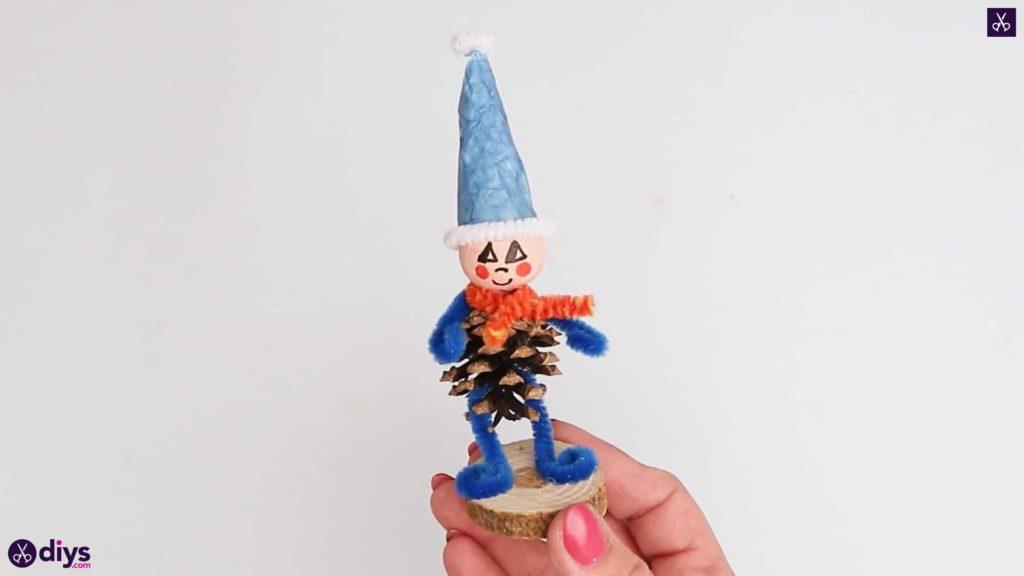 Diy pinecone gnome rustic