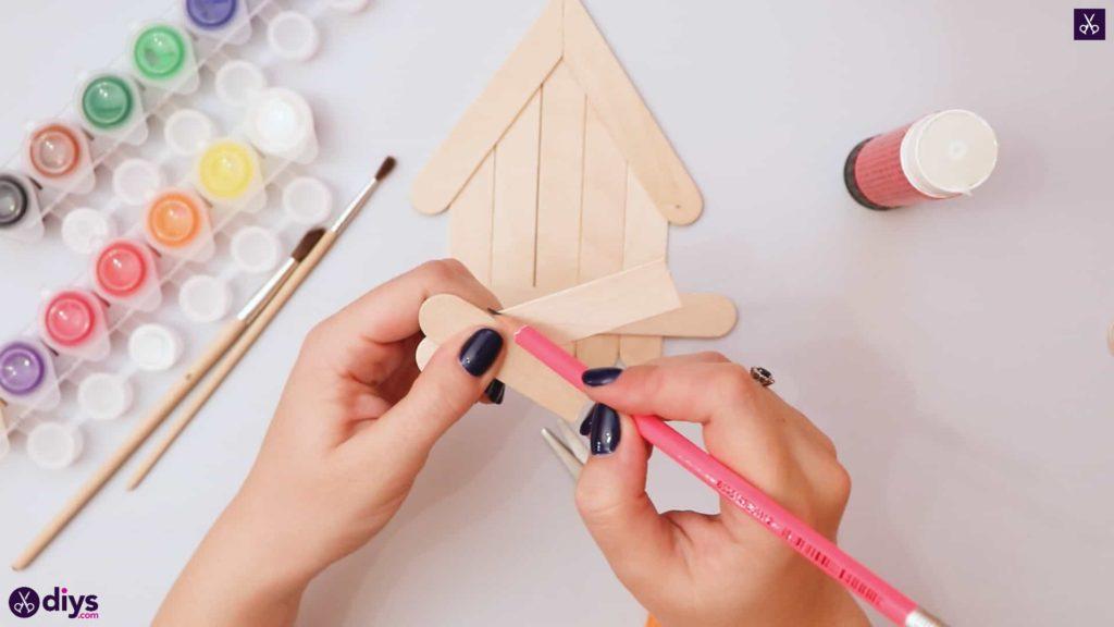 Diy popsicle stick house cut
