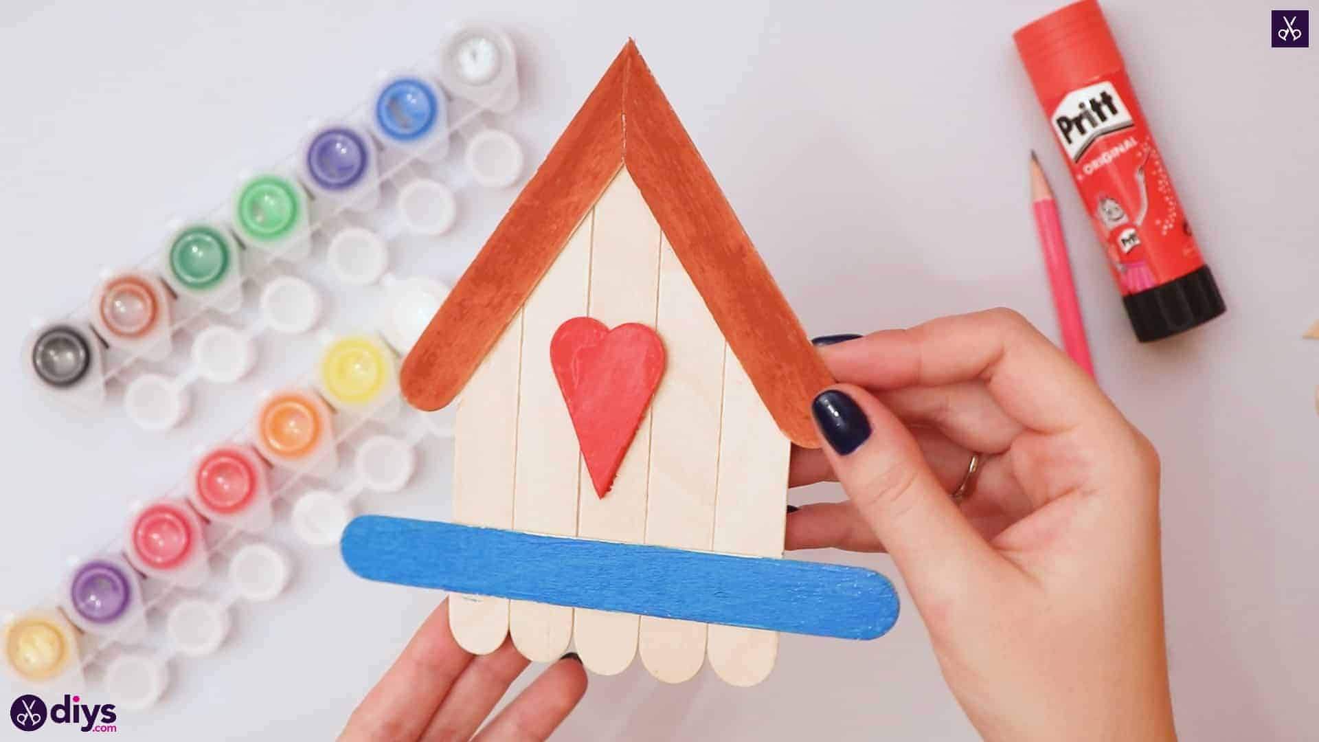 Diy popsicle stick house for kids