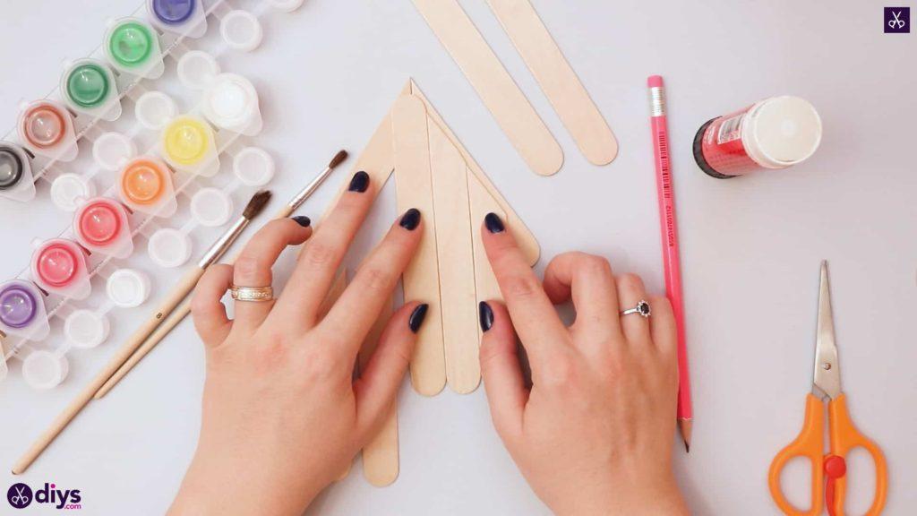 Diy popsicle stick house glue together