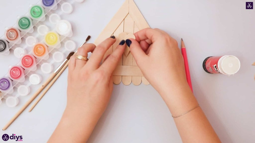 Diy popsicle stick house heart