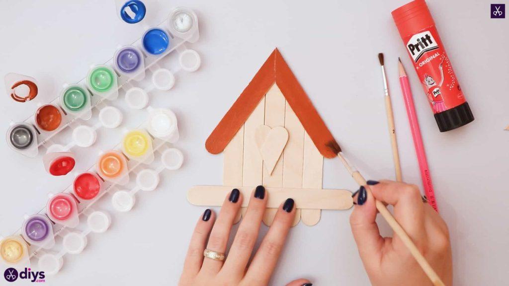 Diy popsicle stick house paint