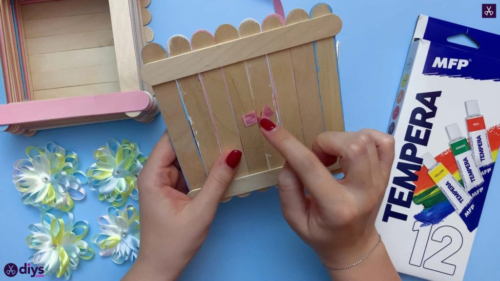 Diy popsicle stick jewelry box attach