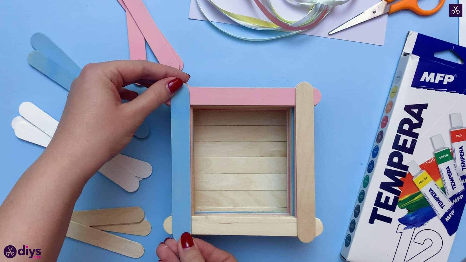 Diy popsicle stick jewelry box color