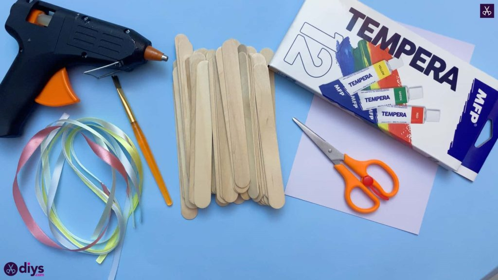 Diy popsicle stick jewelry box materials