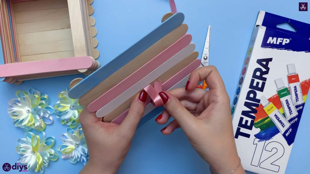 Diy popsicle stick jewelry box step 12