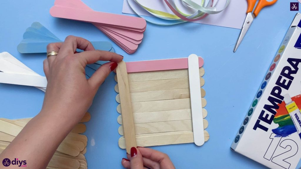 Diy popsicle stick jewelry box step 4