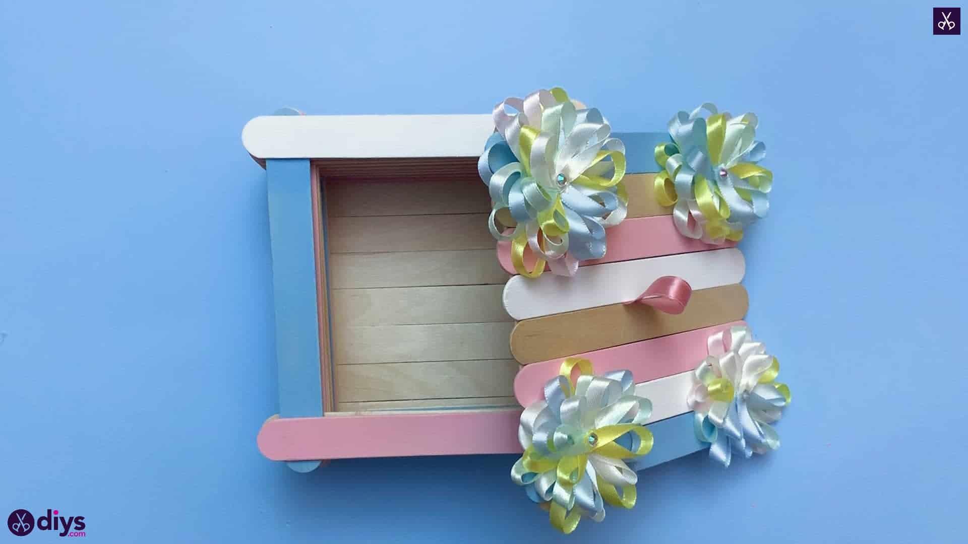 Diy popsicle stick jewelry box top