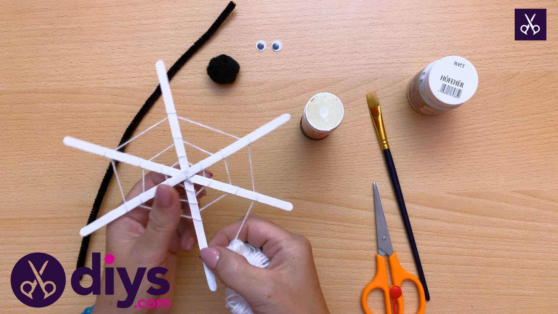 Diy spider web decoration for halloween form
