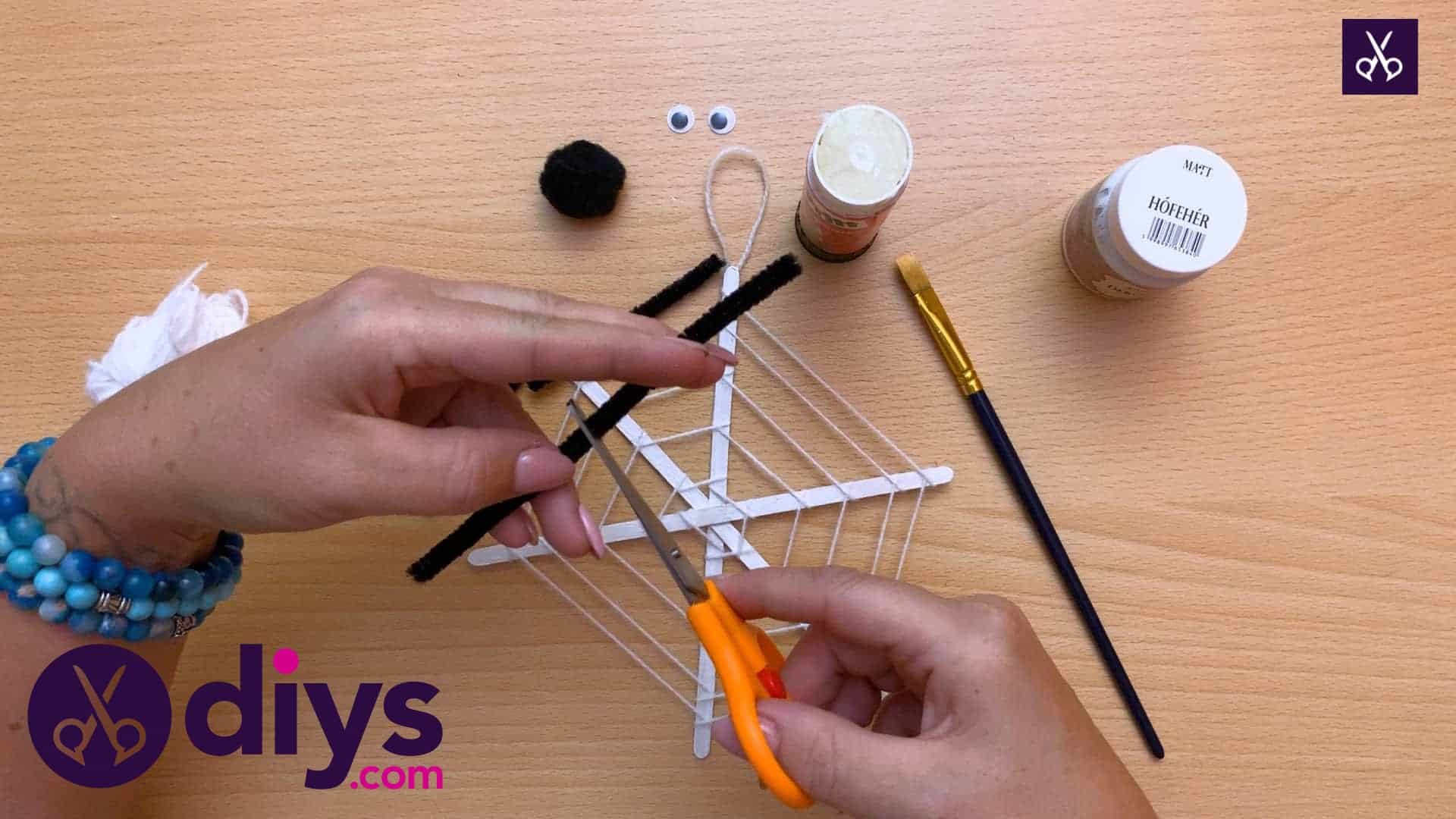 Diy spider web decoration for halloween yarn