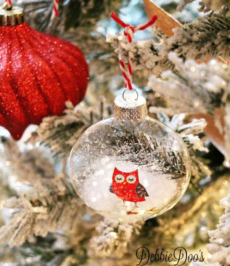 Diy glass ornaments with diamond dust