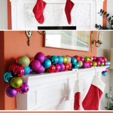 Diy mantel ornament garland