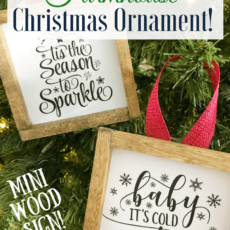 Diy mini farmhouse sign christmas ornament