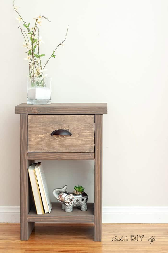 Diy nightstand hidden storage