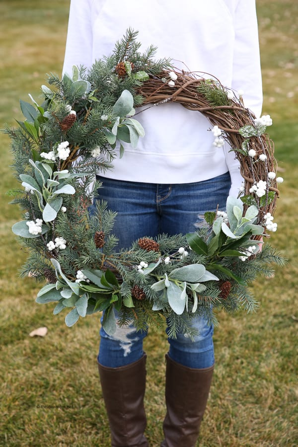 Diy rustic farmhouse wreath