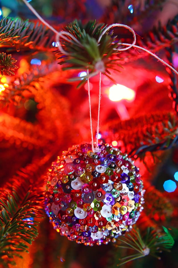 Diy sparkling sequins ornaments