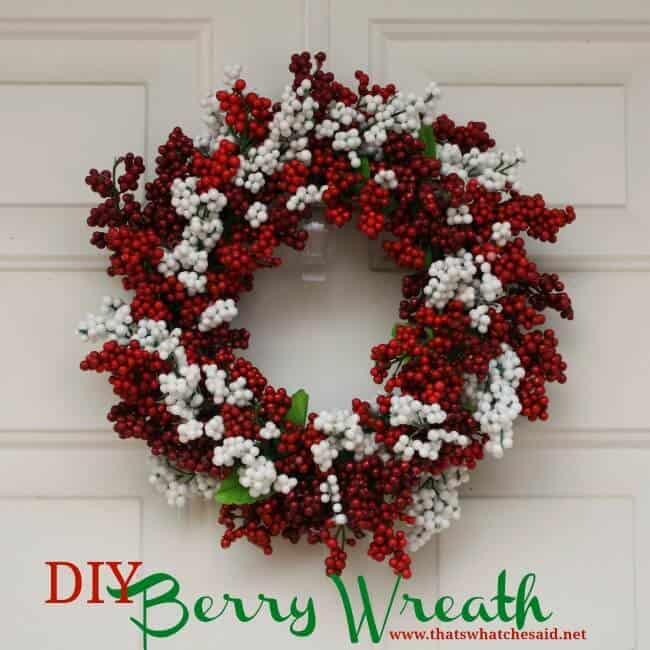 Diy winter berries wreath