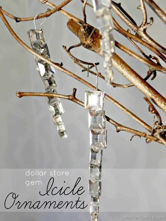 Easy gem icicle ornaments