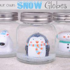 Festive handmade snow globes