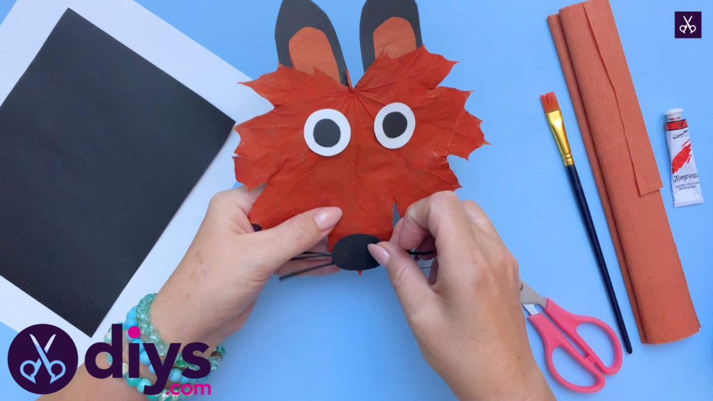 Fox from an autumn leaf kids craft