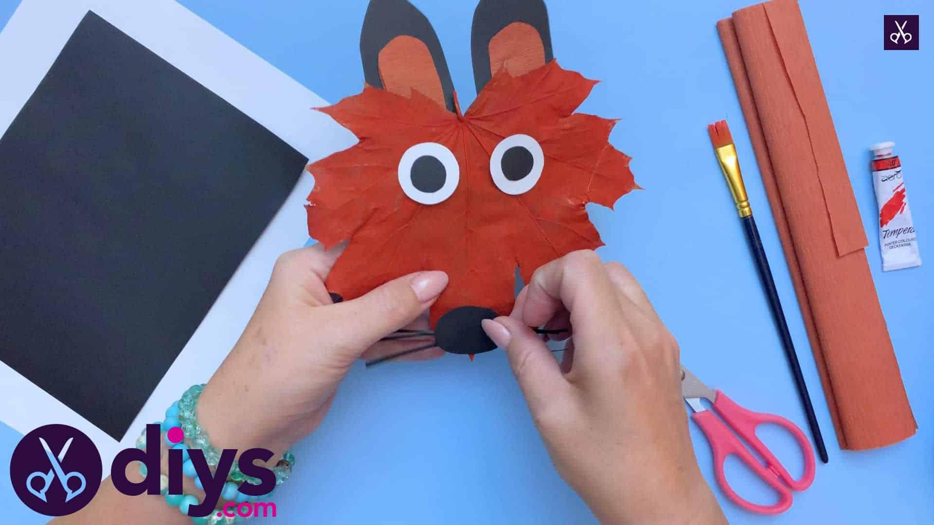 Fox from an autumn leaf kids craft