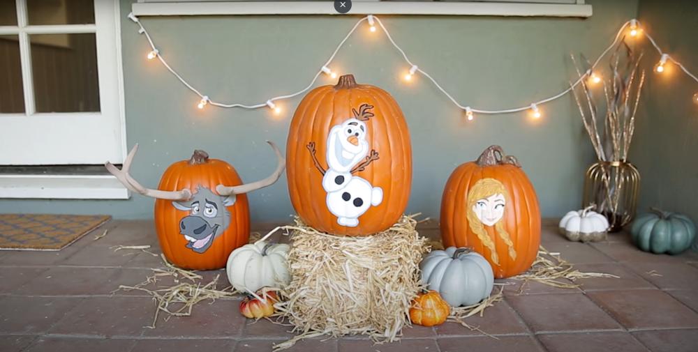 Frozen olaf pumpkin tutorial