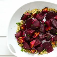 Ginger citrus maple roasted beets