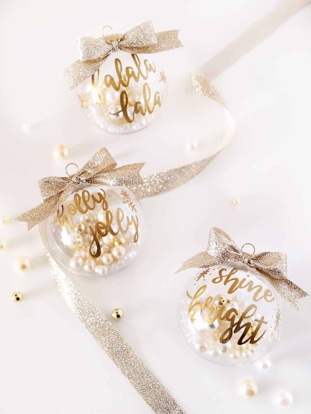 Gold lettering text ornaments