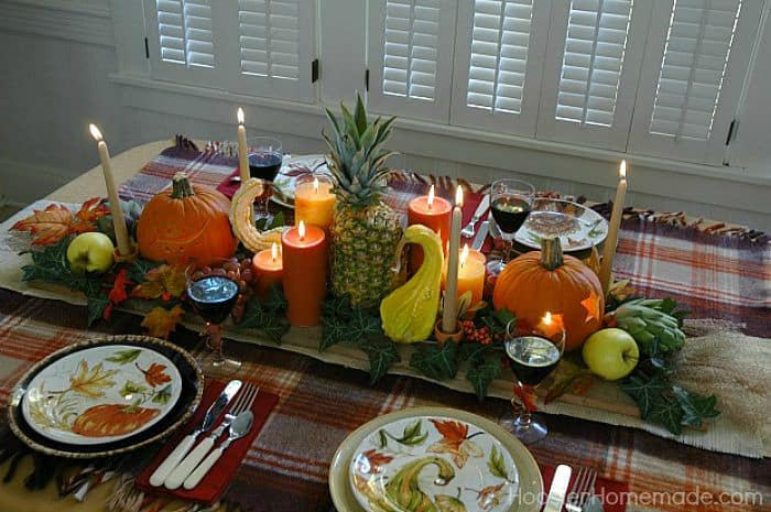 Gourd and candle tablescape tutorial