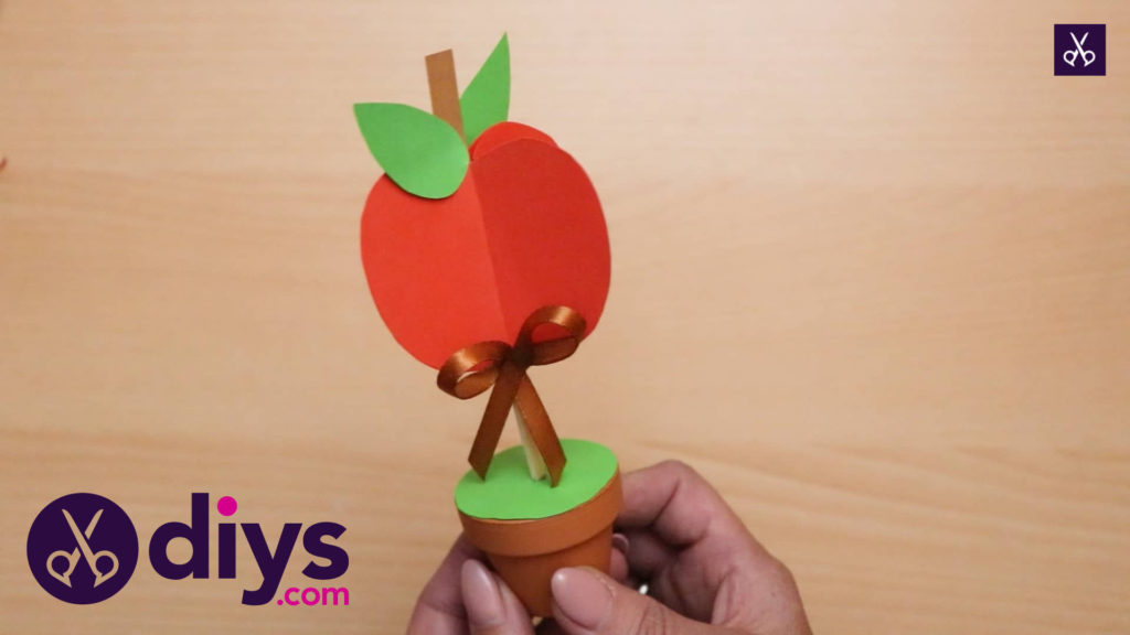 How to make 3d paper apple decor for fall