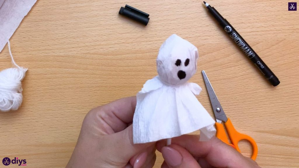 How to make a lollipop ghost for halloween diy
