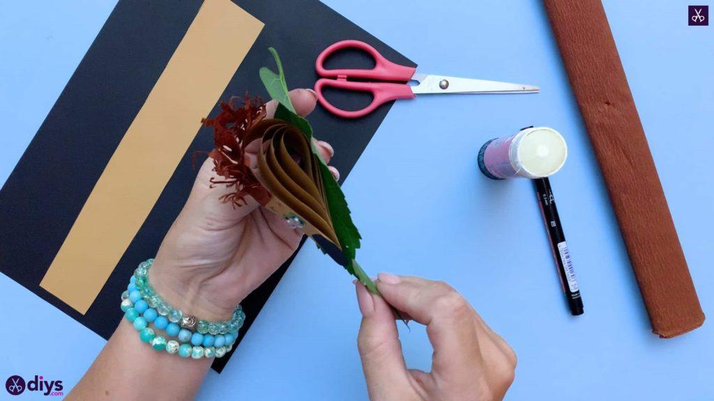 How to make a paper hedgehog on a fall leaf kids