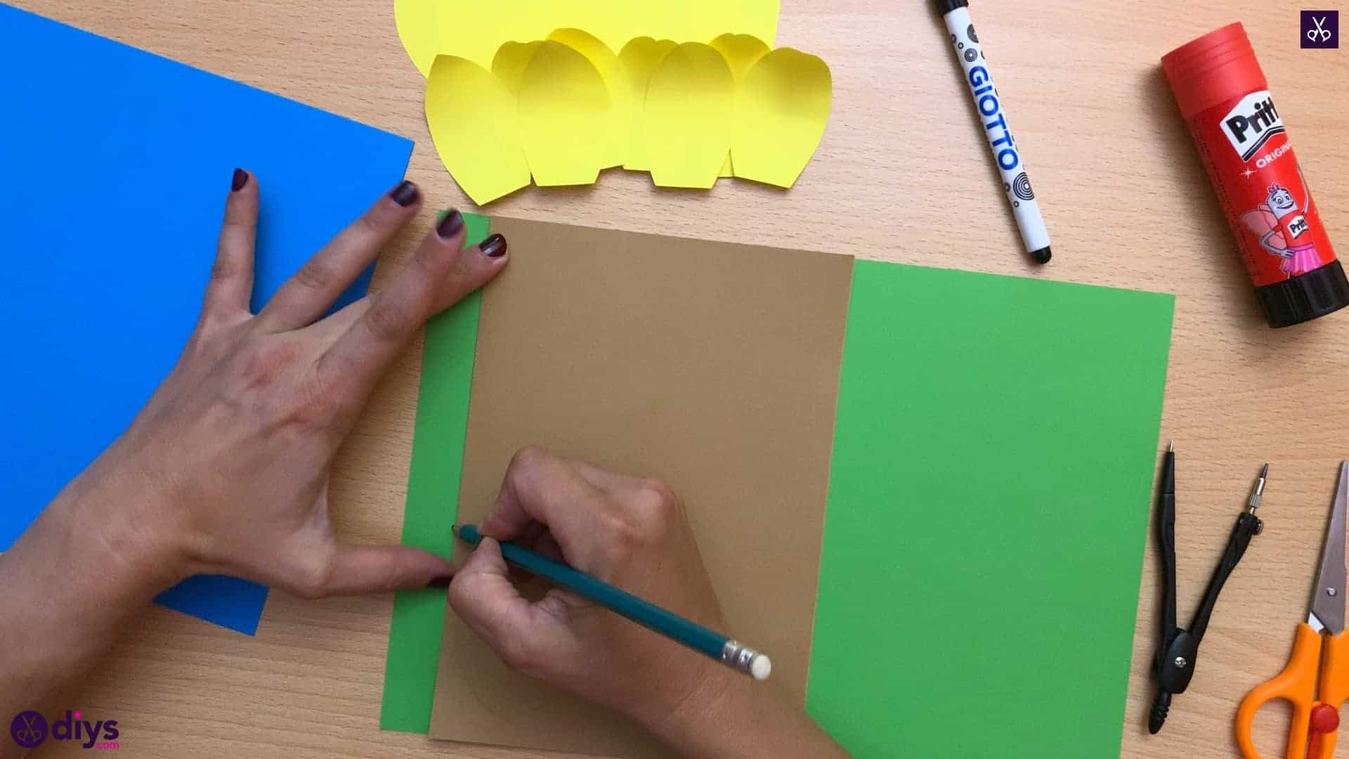 How to make a paper sunflower dy