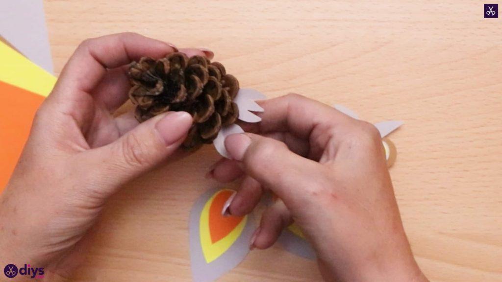 How to make a pinecone owl attach