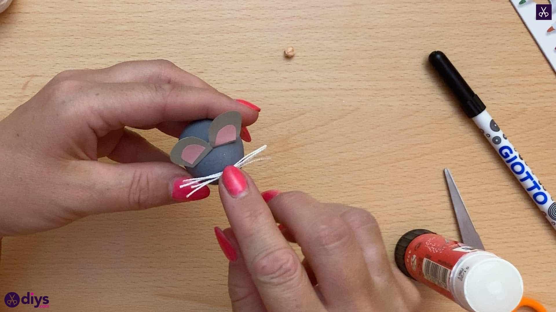 How to make a spun cotton ball mouse mouse
