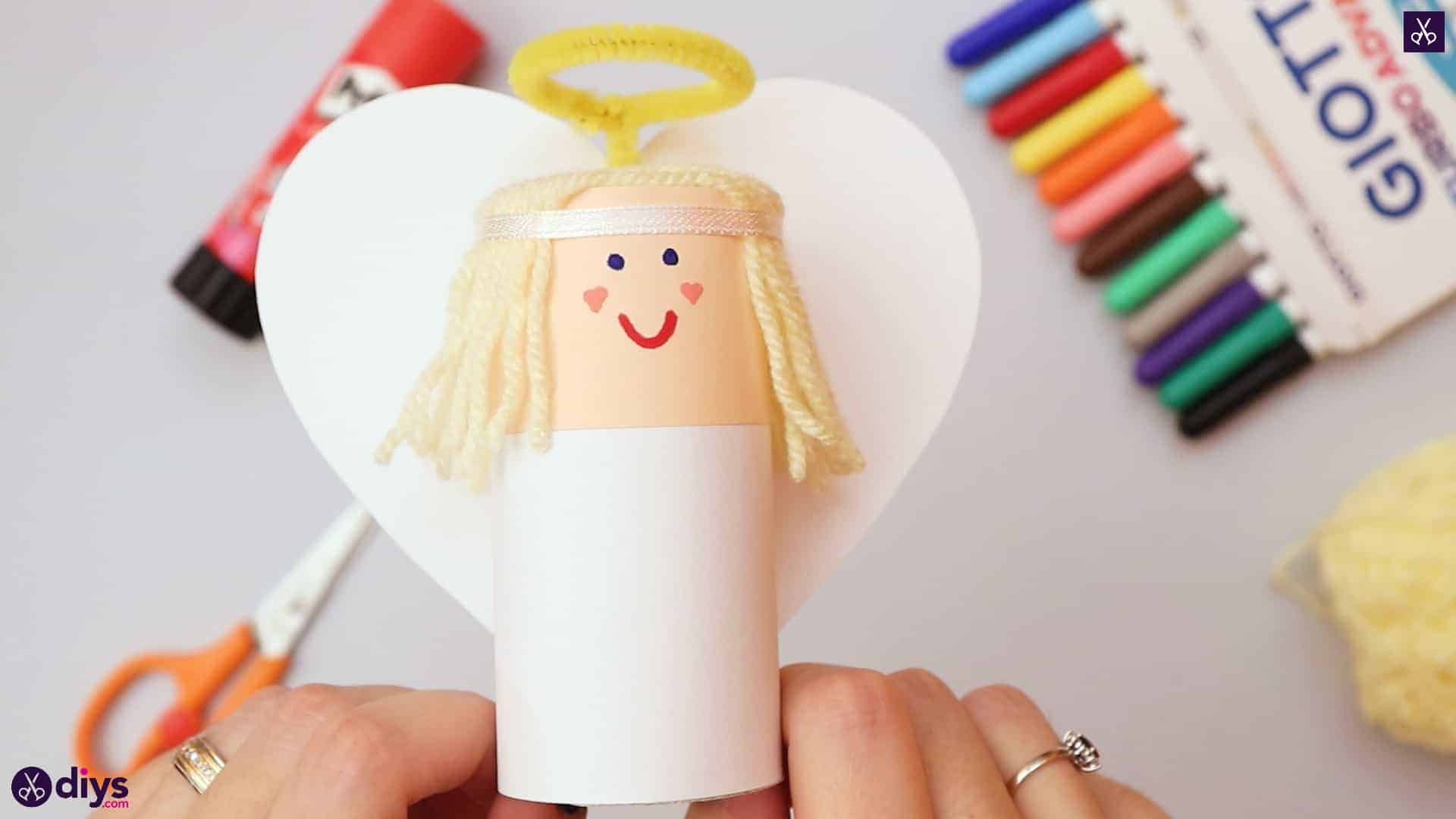 How to make a toilet paper roll angel decor