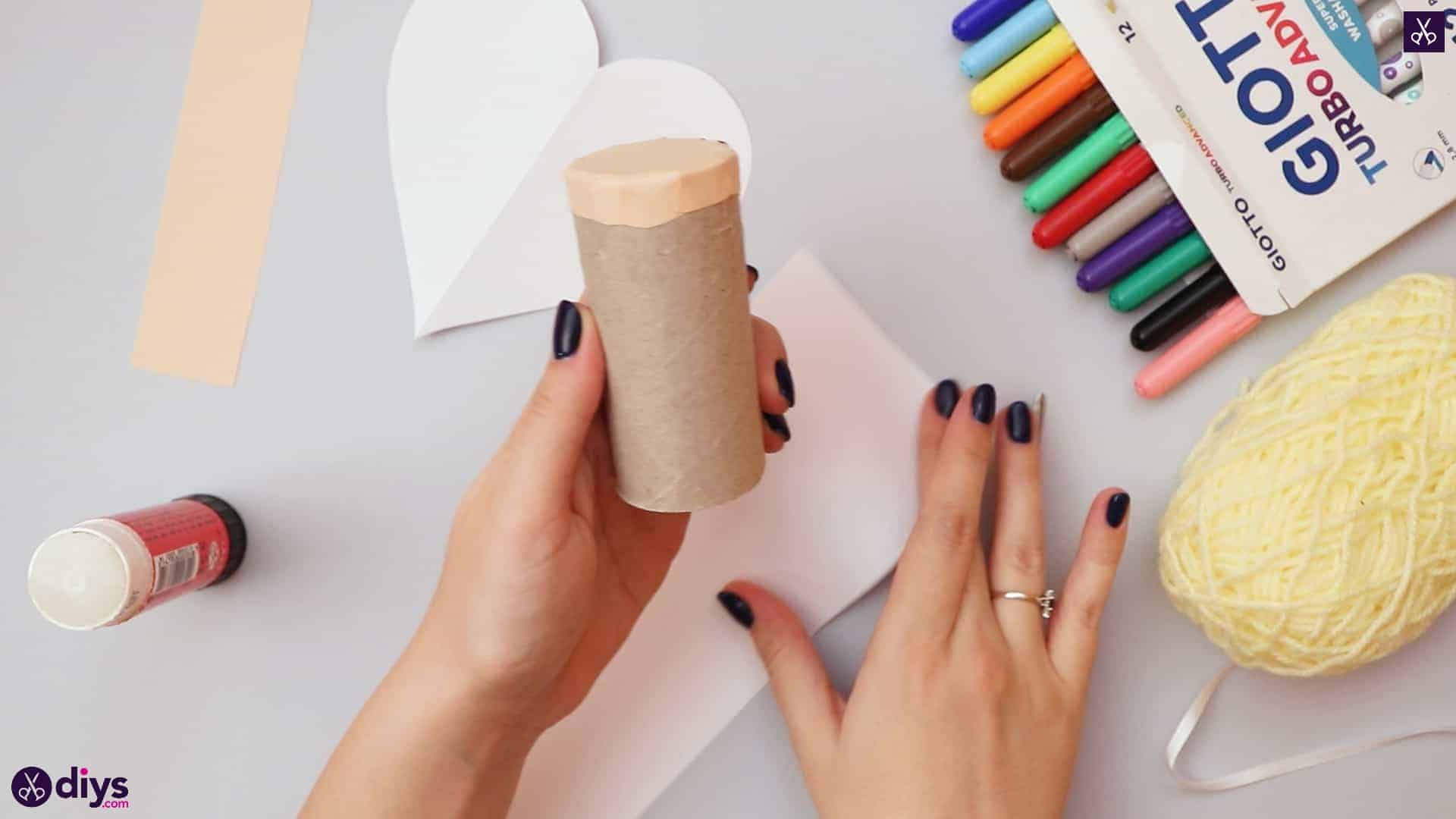 How to make a toilet paper roll angel glue