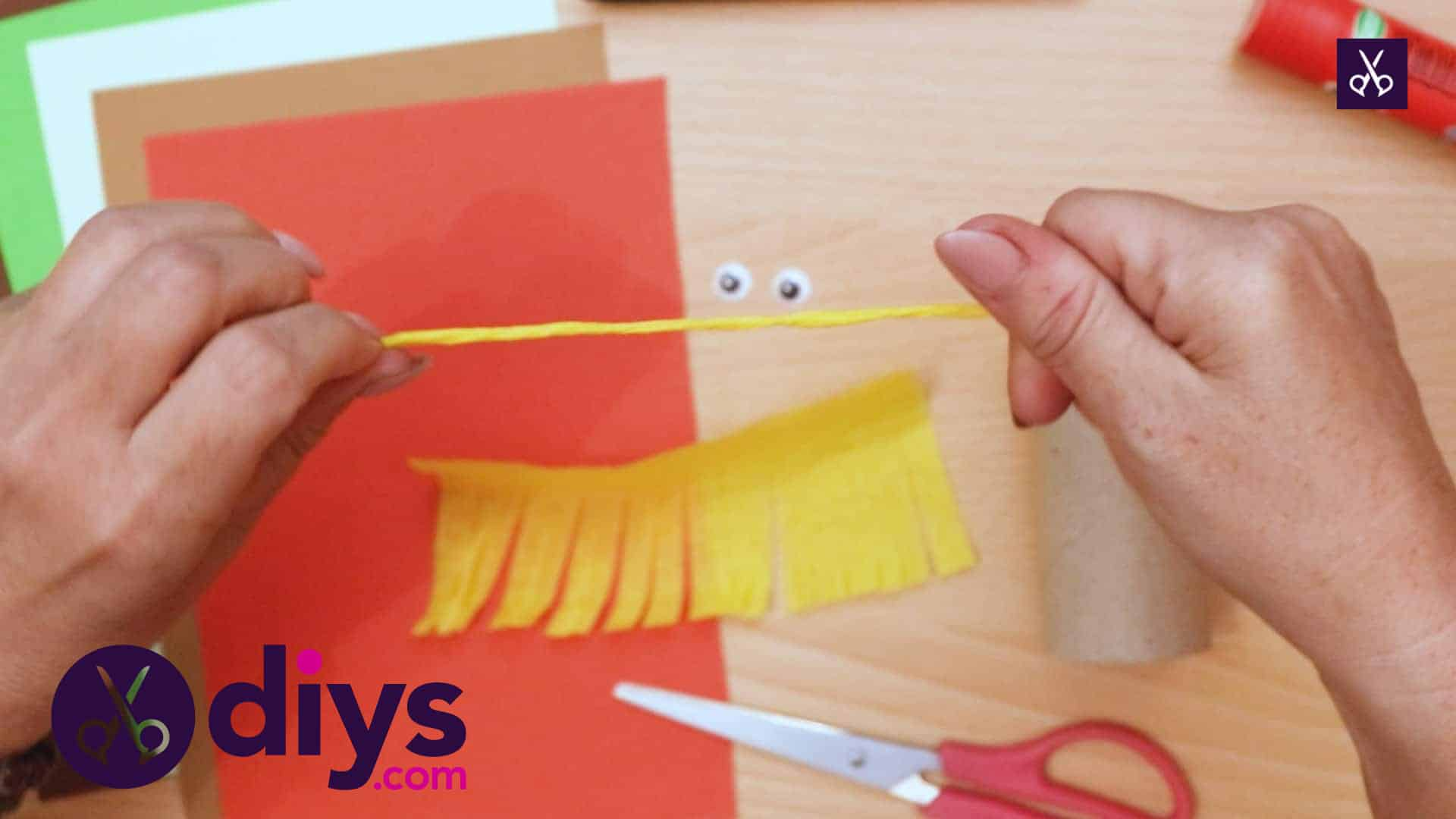 How to make a toilet roll scarecrow cut
