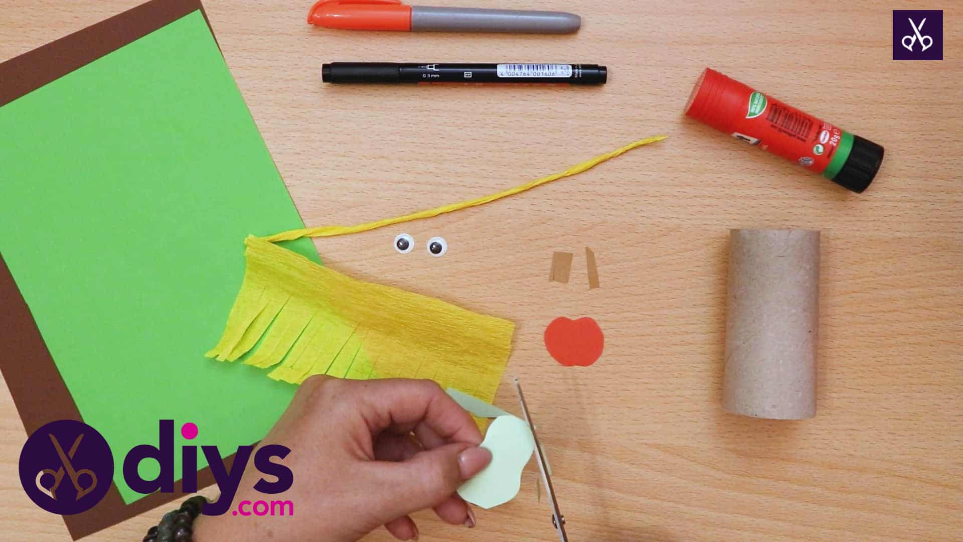 How to make a toilet roll scarecrow little