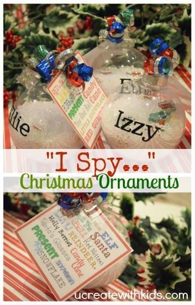 I spy ornaments