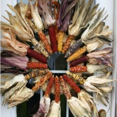 Indian corn thanksgiving wreath