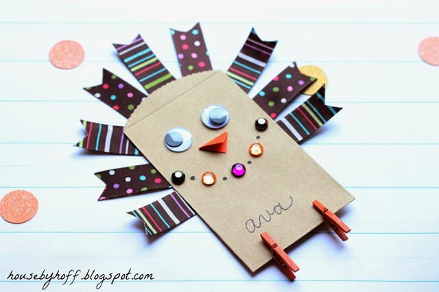 Little paper bag turkey craft
