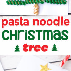 Macaroni noodle christmas tree