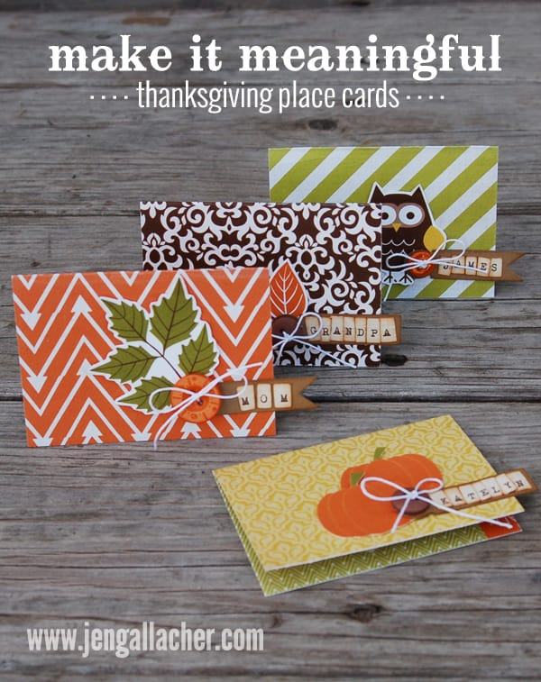 Meaningful note thanksgiving place cards