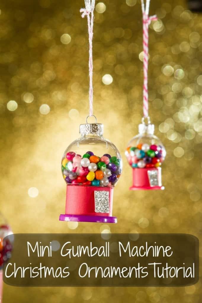 Mini gum ball machine christmas ornament