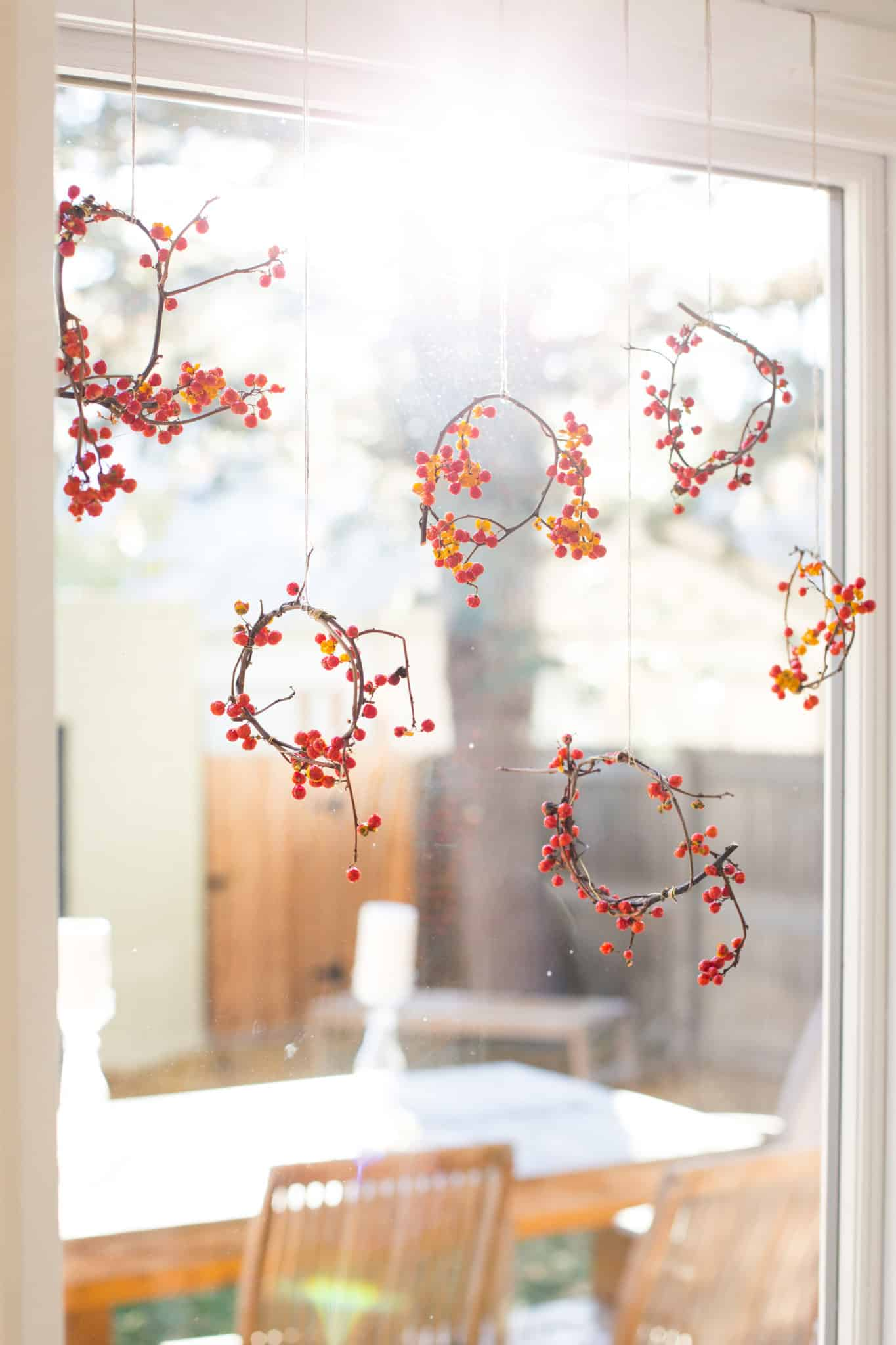 Mini twig and berry holiday wreaths