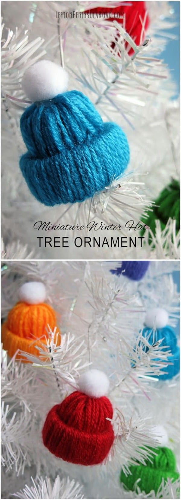 Miniature winter hat ornament