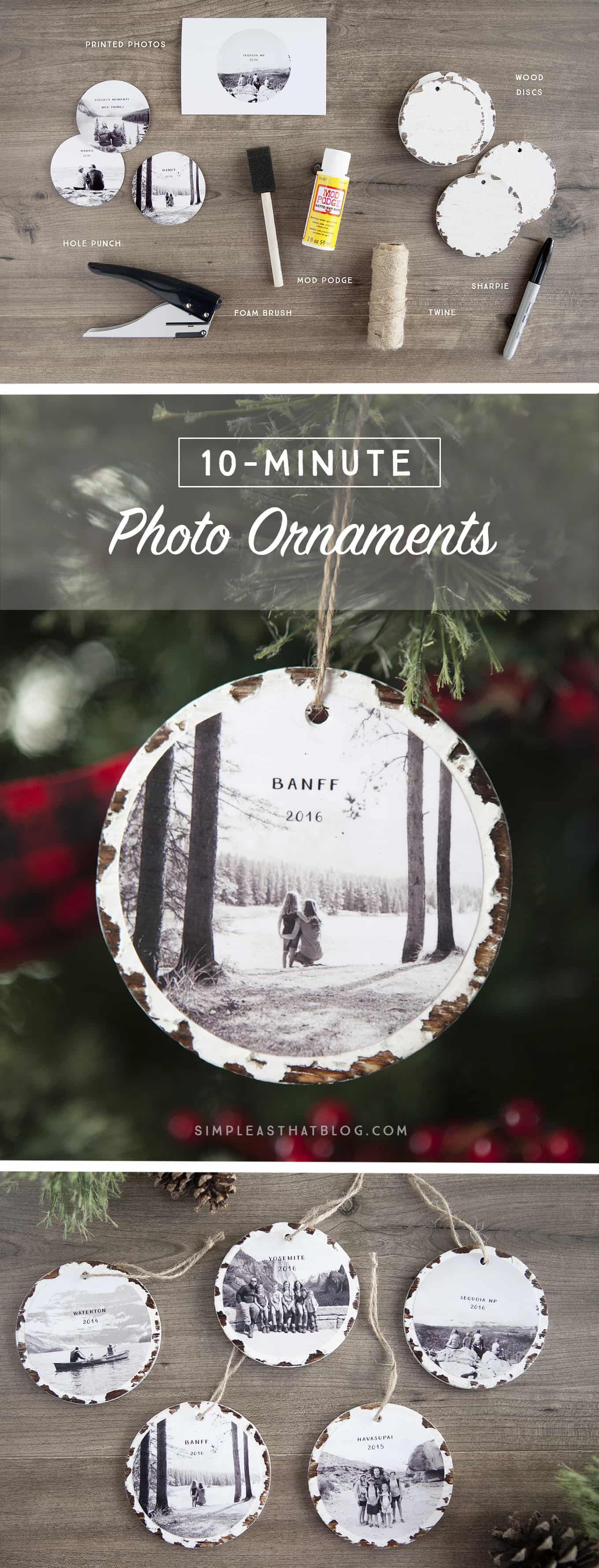 Personalized photo memory ornaments